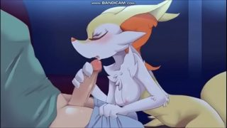 Pokemon xxx  Braixen  follando con humano.